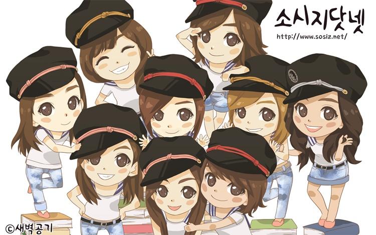 Hình ảnh Chibi SNSD hoạt hình dễ thương cực kute