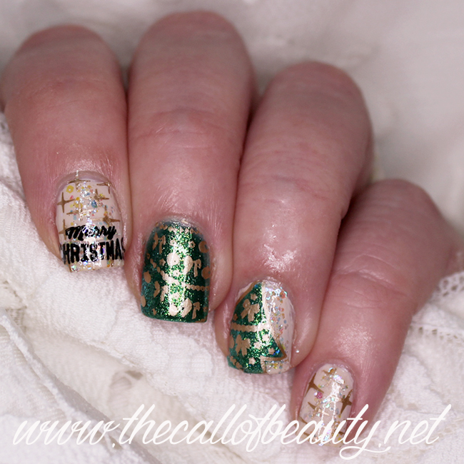 Christmas Lights nail art