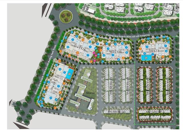 Mặt bằng tổng thể toàn khu dự án Gelexia Riverside