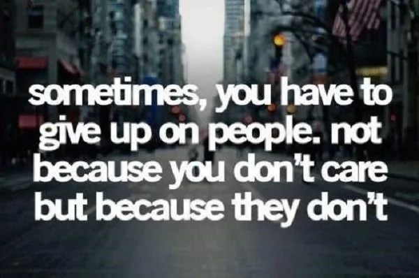 give up fake people quotes