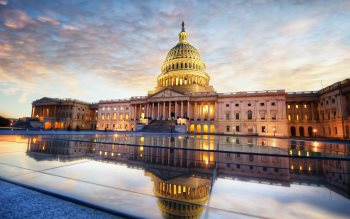 Wallpaper: U.S. Capitol Sunrise Reflection