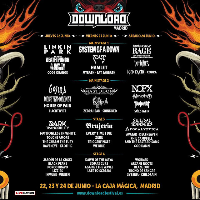 Cartel Download Festival Madrid 2017