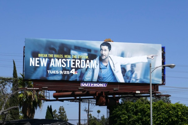 New Amsterdam series launch billboard