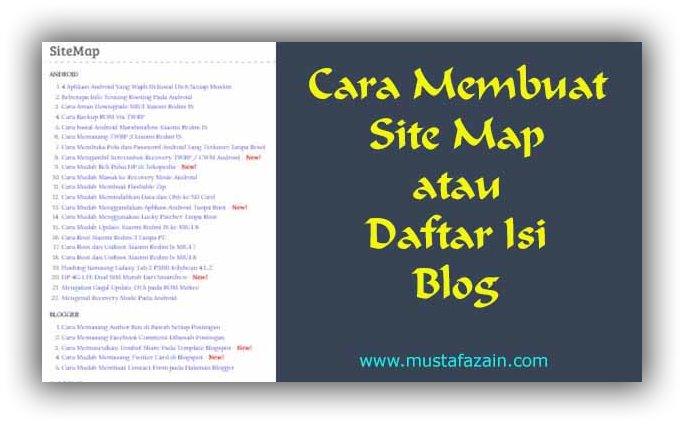 Cara Sederhana Membuat Daftar Isi Blog