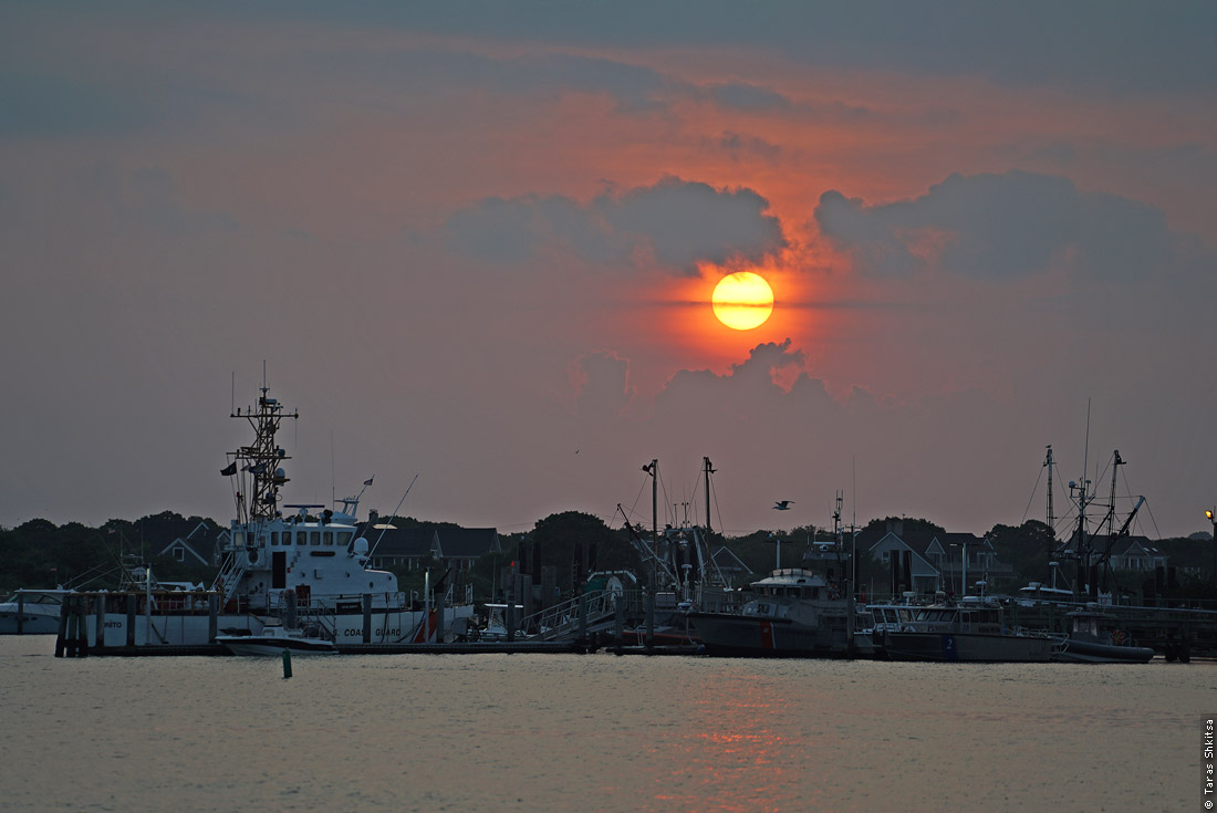 Montauk. NY. Block Island Ferry. Daybreak
