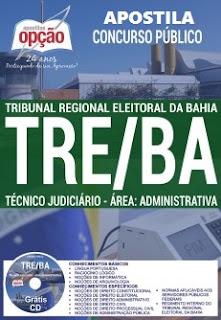 Apostila TRE Bahia Técnico judiciário 2017.