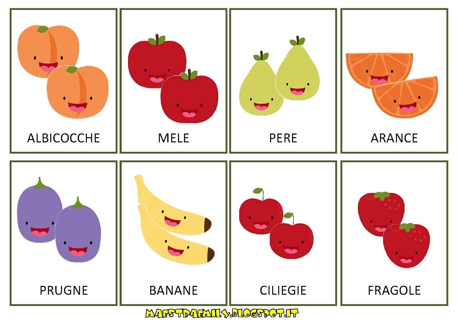 Maestraemily memory della frutta e verdura for Memory da stampare