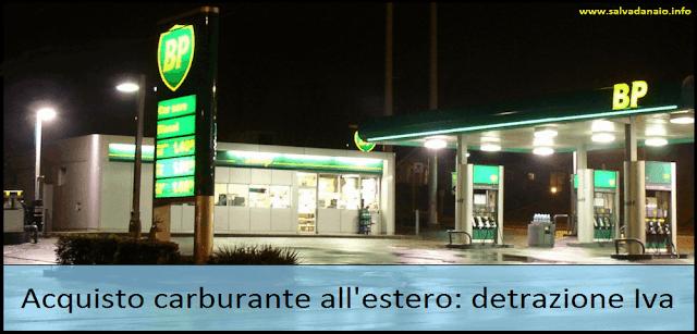 Acquisto di carburante all'estero: detrazione Iva