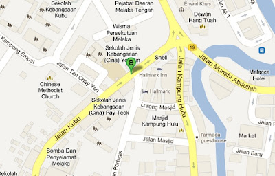map of restoran atlantic 1 melaka
