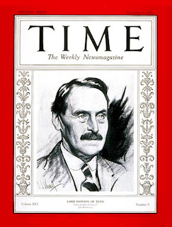 Time Magazine's cover story of Lord Dawson six years before King George V's death, on Monday, Sept. 01, 1930, praised his services as the royal physician