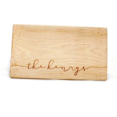 personalized cutting board from etsy store