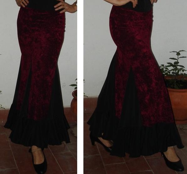 b58c043d0 Patrones de Costura Flamenca: Cómo Insertar un Godet en una Falda ...