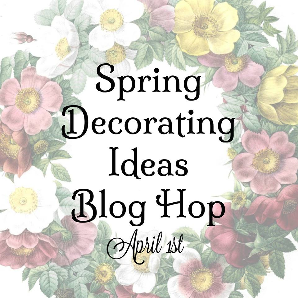 Spring Decorating Ideas With Flowers From The Yard And Vintage Finds