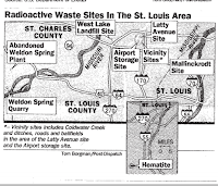 Radioactive Waste Sites in the St Louis Area Post Dispatch Image