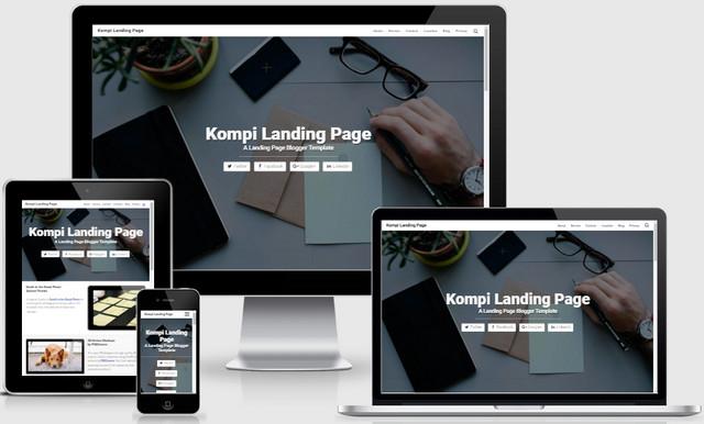 Kompi Landing Page Responsive Blogger Templates