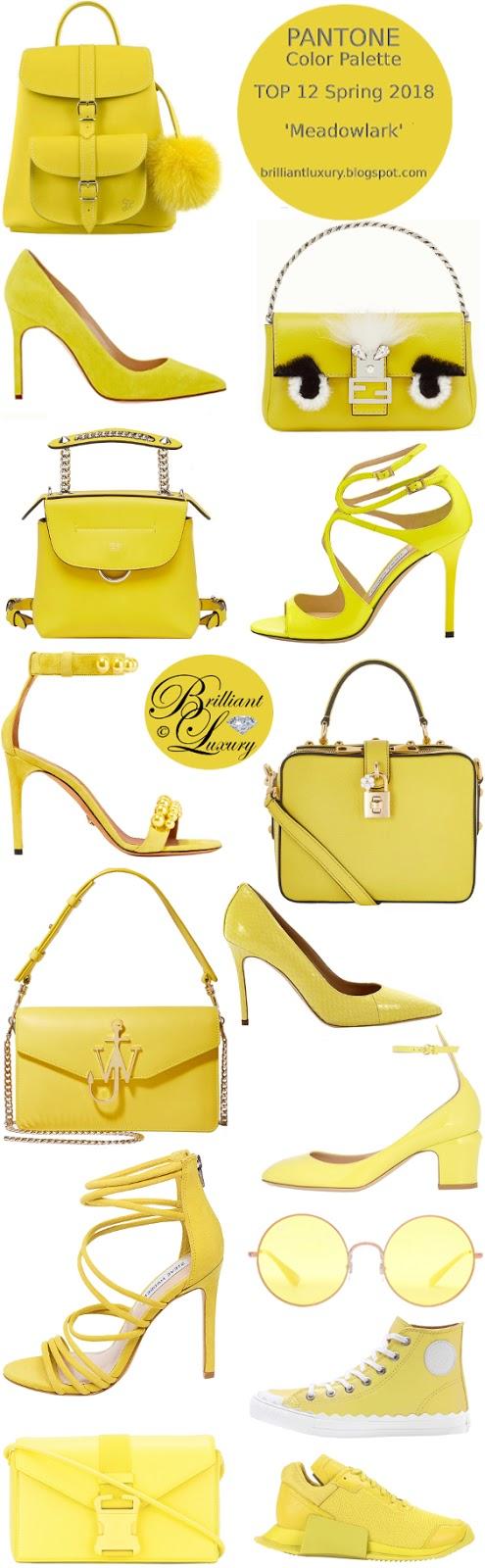 Brilliant Luxury ♦ Pantone Spring 2018 Top 12 Color Palette ~ meadowlark