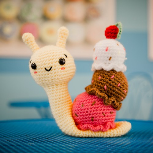 Fabric Crafts Amigurumi Snail Free Pattern Check more at https ... | 500x500