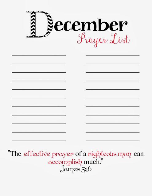 graphic about Prayer List Printable called Prayer Checklist Printable - December - Doodles Sches