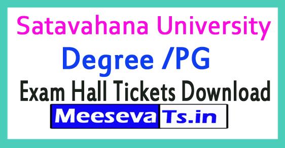 Satavahana University (SU) Degree /PG Supple Exam Hall Tickets Download