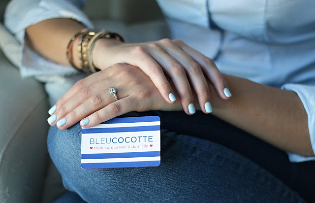 manucure semi-permanent bleu cocotte bordeaux Agathe Diary