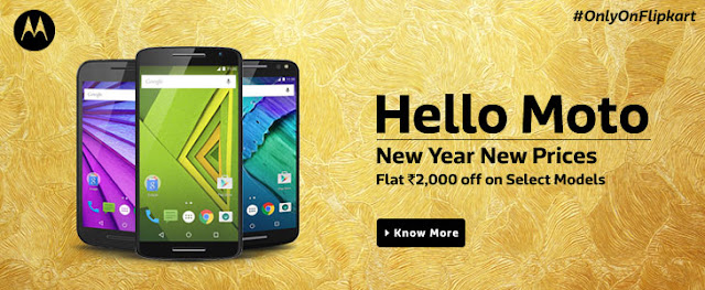 Deal Alert: Flat ₹2000 Off on Moto G, Moto X Play and Moto G Turbo on Flipkart