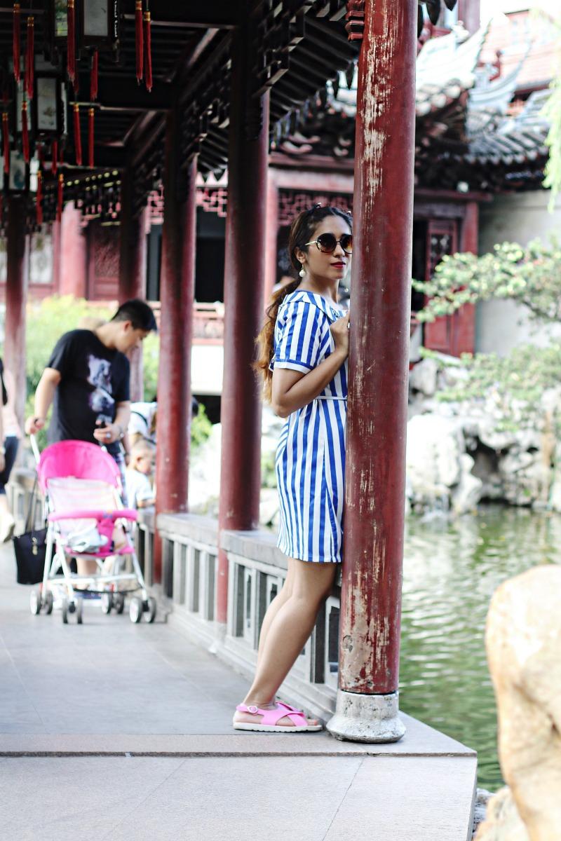 Off Shoulder Striped dress - OOTD - Buy Online dress at koovs, amazon, asos zara