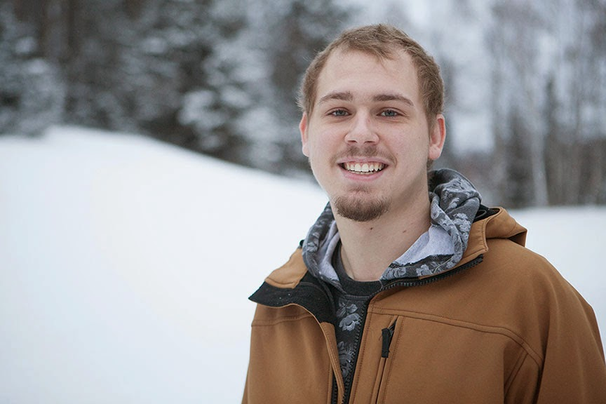 Andrew Nelson attended Alaska Middle College School, where he amassed 54 credits before graduating. He is now a freshman at UAA who plans to attend nursing school. (Photo by Philip Hall/University of Alaska Anchorage)