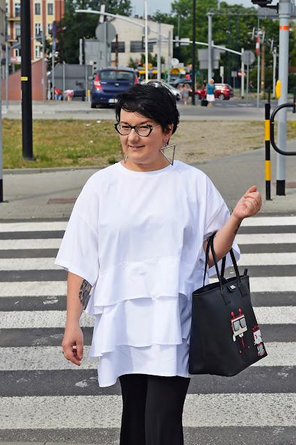 biała bluzka oversize Zara