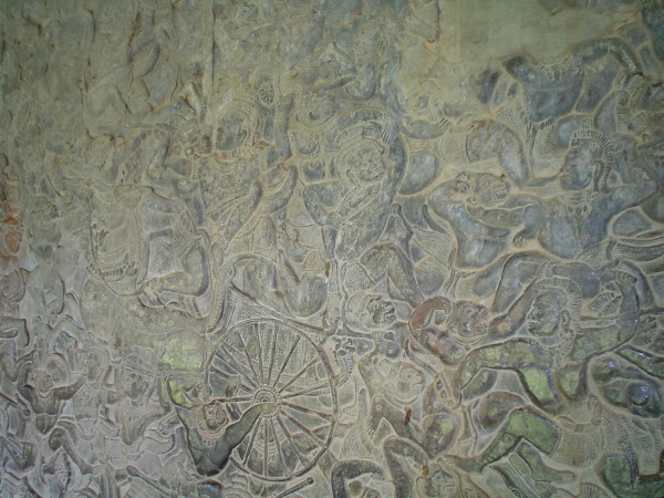 TRepresentacion batalla y leyenda en Templos de Angkor - Camboya