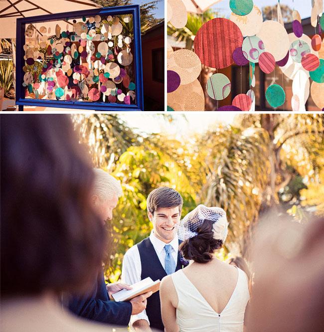 mariage coloré guestbook livre d'or cercle cadre