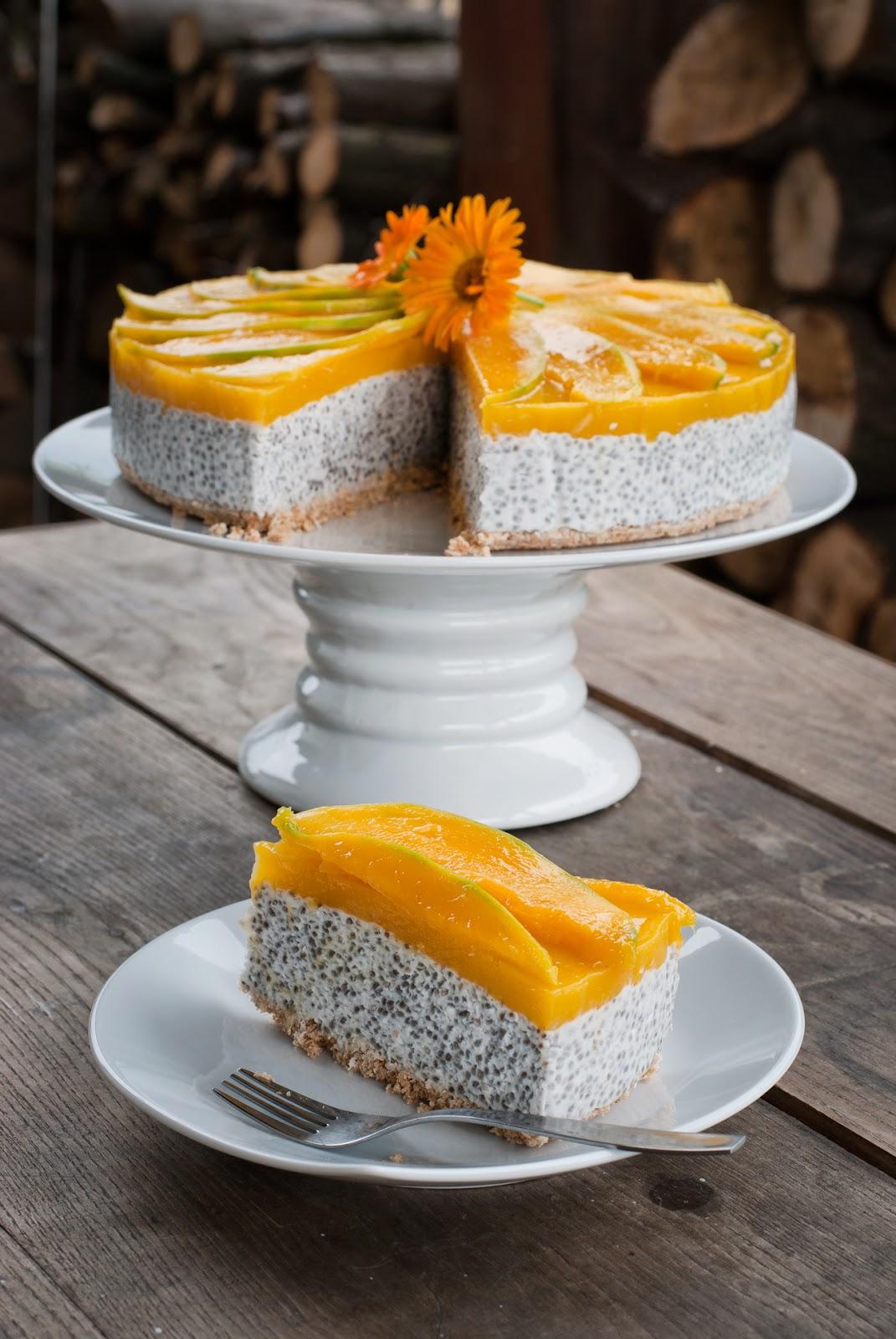 Owocowy tort na zimno bez glutenu bez laktozy