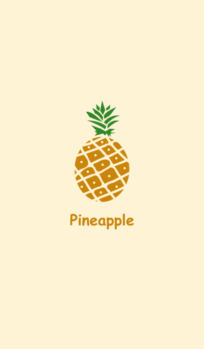 Mini yellow pineapple
