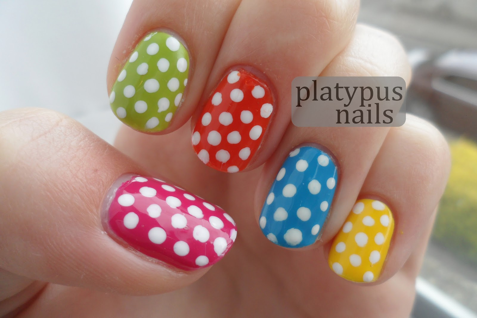 loonyplatypus: [nails] Day 11 - Polka Dot Nails