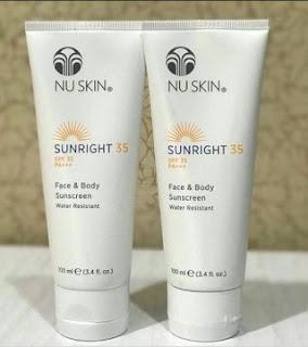 Sunblock Nuskin Sunright Face & Body SPF 35