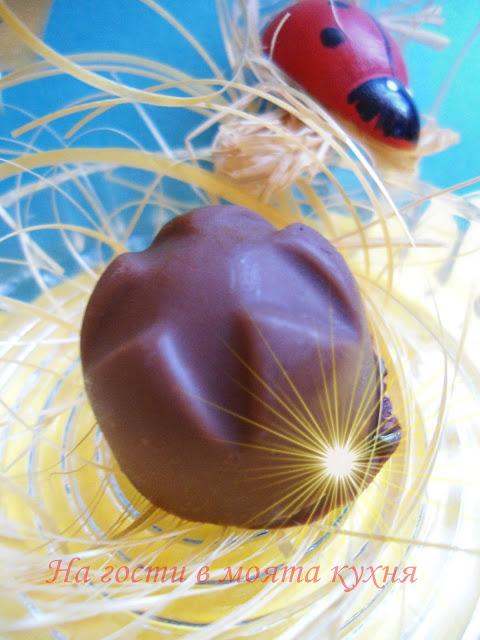 Домашни шоколадови бонбони с лек дъх на мента