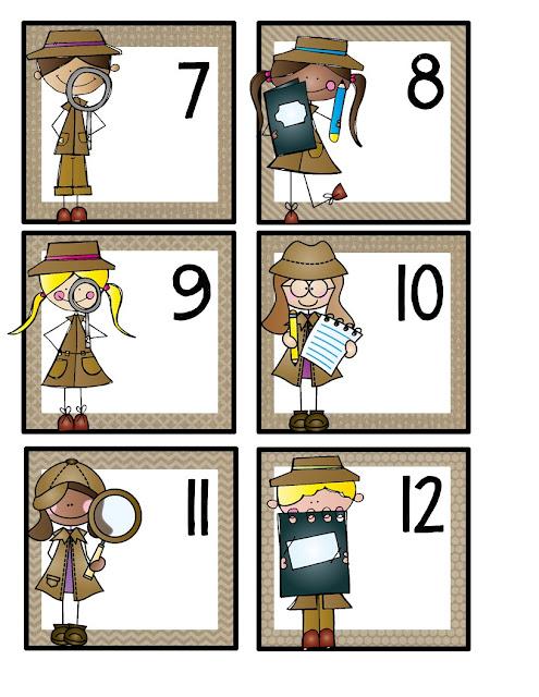 detective calendar card freebie