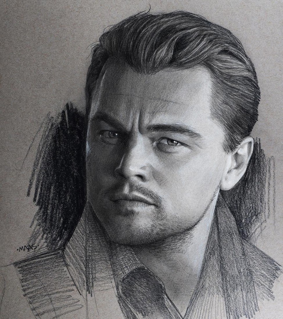 12-Leonardo-Dicaprio-Justin-Maas-Pastel-Charcoal-and-Graphite-Celebrity-Portraits-www-designstack-co