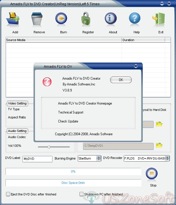 Download Amadis FLV to DVD Creator 3.8.8 Full For Windows 10, 8, 7, XP,   Amadis FLV to DVD Creator Full Version Download For PC