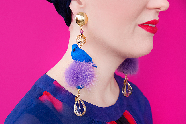 Tukadu, bird earrings, quirky accessories
