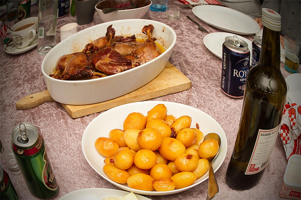 brune kartofler fra glas
