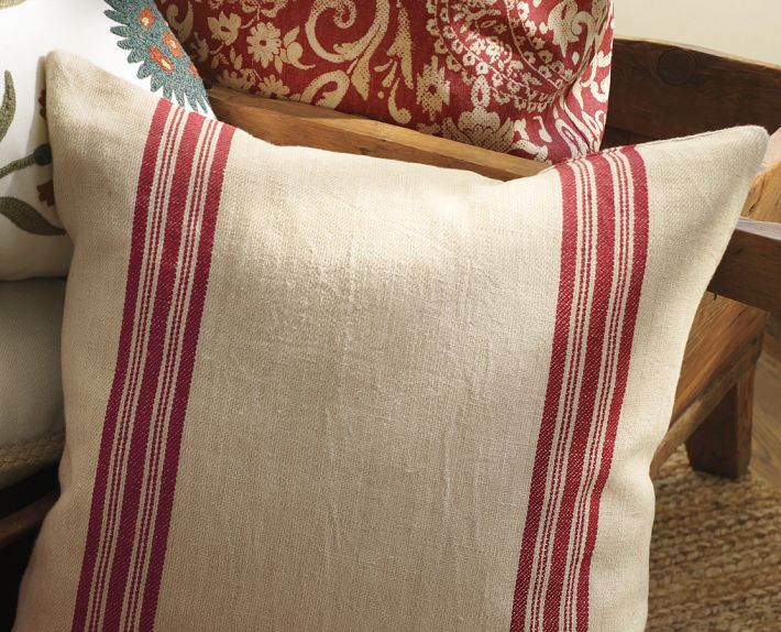 House of FabForLess: Grain sack pillows