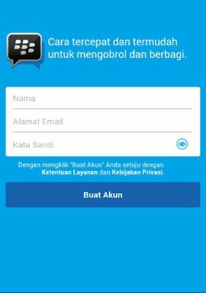 Cara Mudah Daftar Akun BBM Di Android