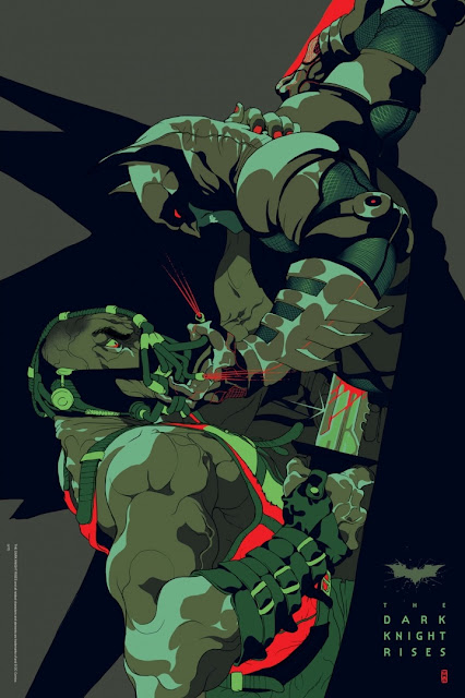 The Dark Knight Rises Screen Print by Tomer Hanuka & French Paper Art Club