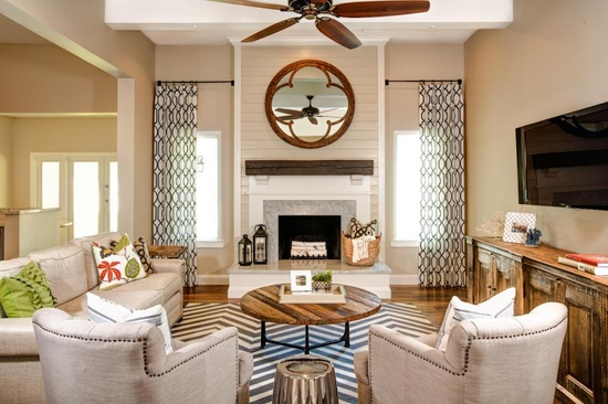 living room fireplace off centered wet bar ideas for house envy furniture layout big or small space you ve gotta nail this is that the long sofa creates a divide between and kitchen but yet it still low enough profile doesn t seem closed