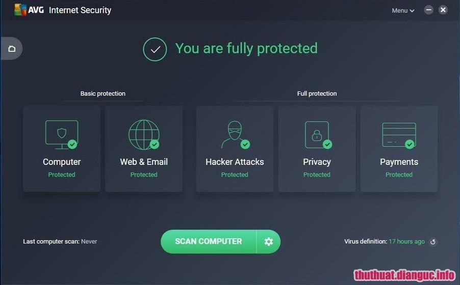 Download AVG Internet Security 2019 v19.4.4318 Full key