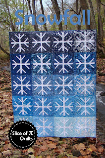 Snowfall ombre snowflake winter quilt