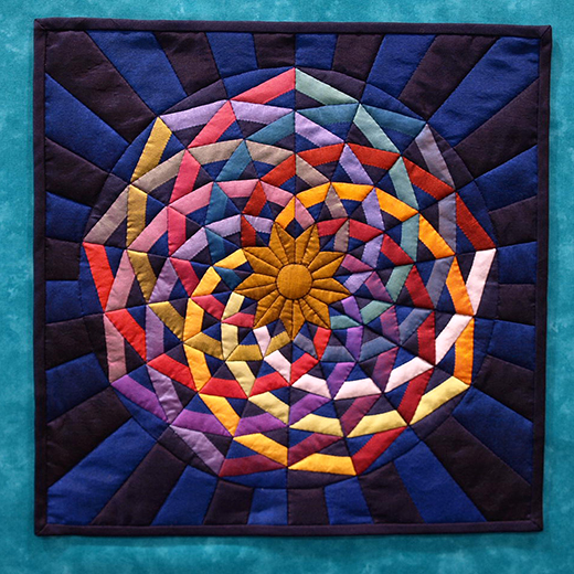 AQS Dancing Ribbons Quilt Free Pattern, Quilt by by Cindy Rounds Richards from AmericanQuilter