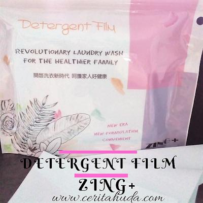 Pengalaman Guna Detergent Film Zing+