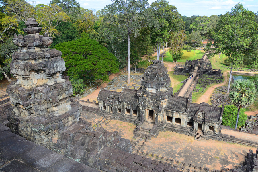 Baphuon, Angkor Thom, Angkor, widok z gopury