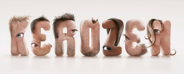 Shocking Hairy Typeface Made of Human Flesh5